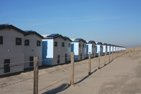Beach huts in Hoek van Holland. Photo: RM