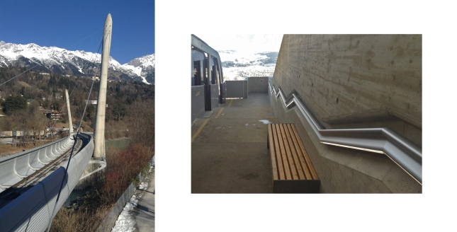 Zaha Hadid bridge station Innsbruck