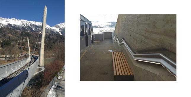 Zaha Hadid bridge station Innsbruck