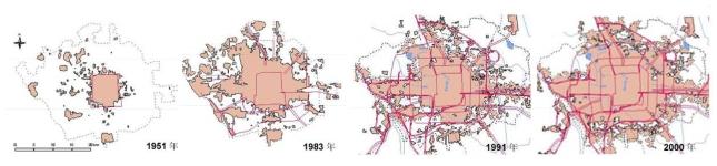 Beijing urban growth